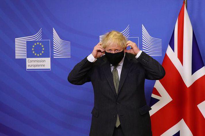 Boris Johnson fundaði með Ursulu von der Leyen í gær.