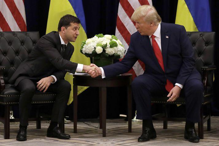 Volodymir Zelensky og Donald Trump.