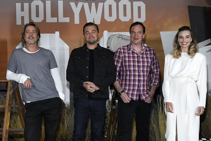 Tarantino ásamt aðalleikurum Once Upon a a Time in Hollywood.