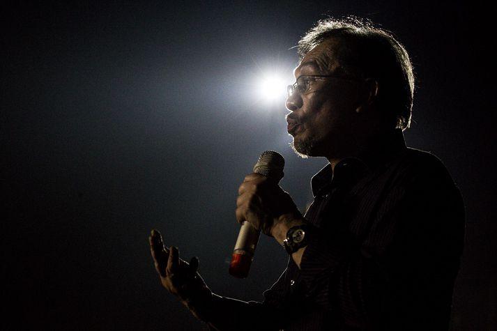 Anwar Ibrahim á sér langa og dramatíska sögu í malasískum stjórnmálum