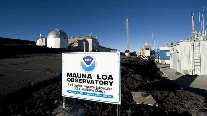 Loftgæðamælingastöð NOAA í Mauna Loa á Hawaii.
