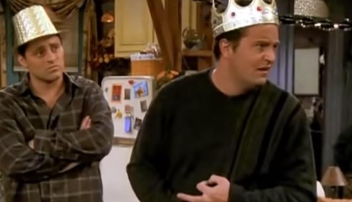 Matthew Perry fór oft á tíðum á kostum sem Chandler.