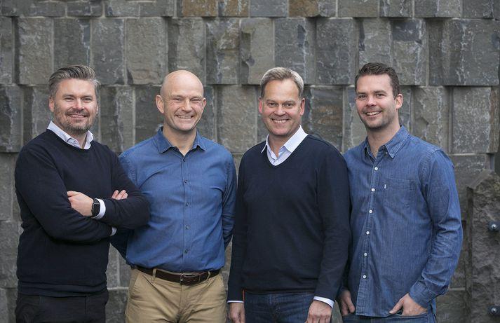 Þeir Hjörtur Hjartarson, Sveinn Valfells, Jón Helgi Egilsson og Gísli Kristjánsson stofnuðu Monerium árið 2016.