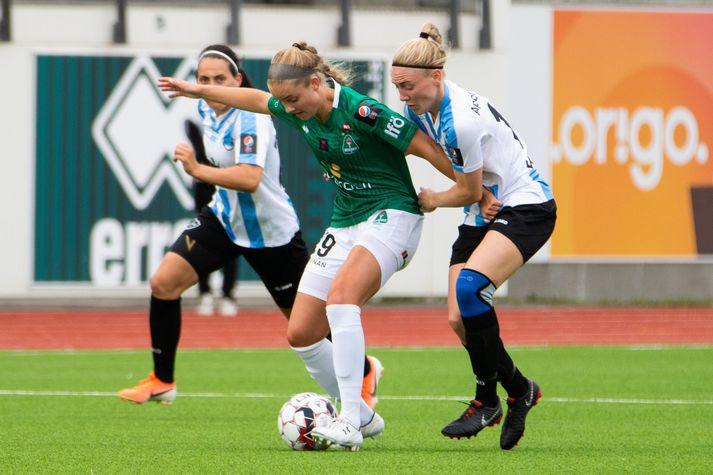 Andrea Rán Snæfeld Hauksdóttir í leik með Breiðabliki.