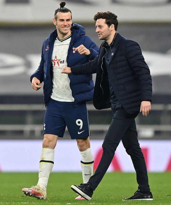 Gareth Bale og Ryan Mason eftir sigur liðsins gegn Sheffield United í dag.