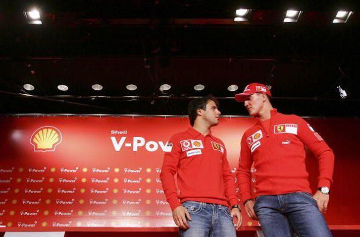 Michael Schumacher og Felipe Massa of árið 2006.