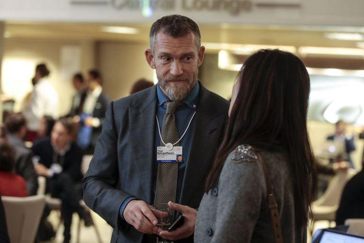 Björgólfur Thor Björgólfsson í Davos í upphafi árs 2018.