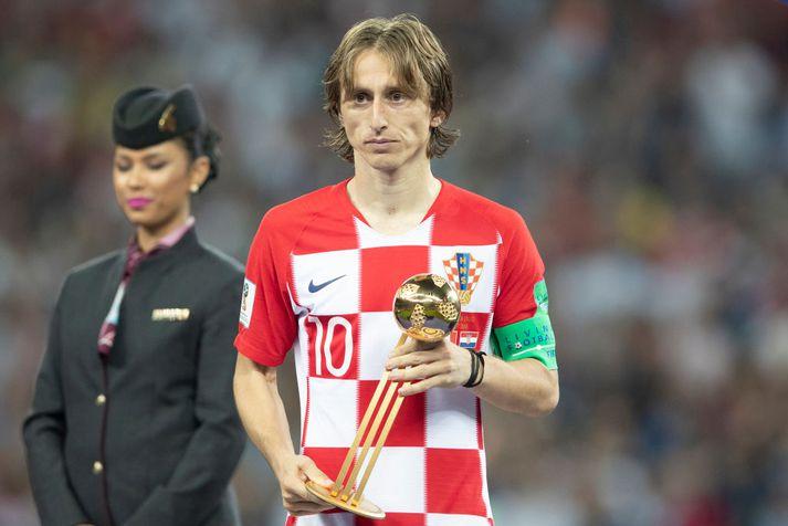 Luka Modric var besti leikmaður HM í Rússlandi