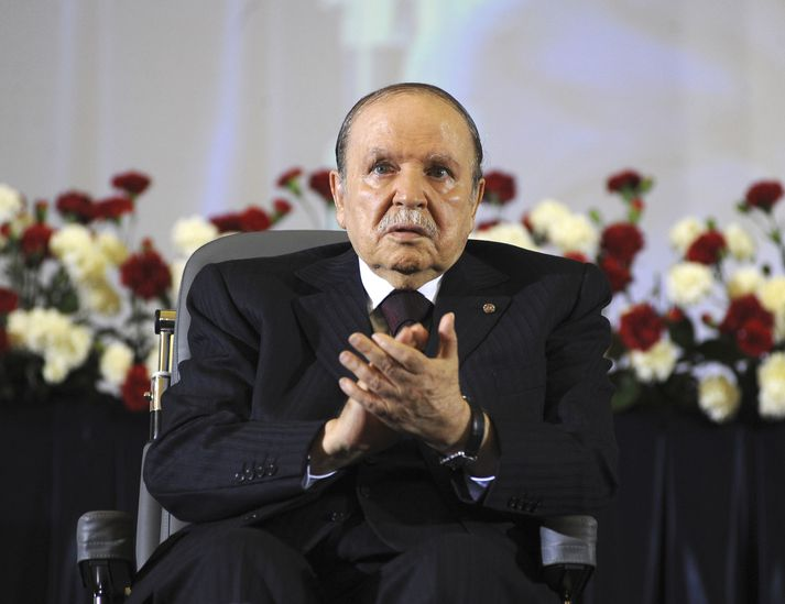 Abdelaziz Bouteflika var forseti Alsír í tvo áratugi.
