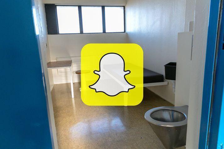 Gabríel var í samskiptum við konuna á Snapchat í lengri tíma.