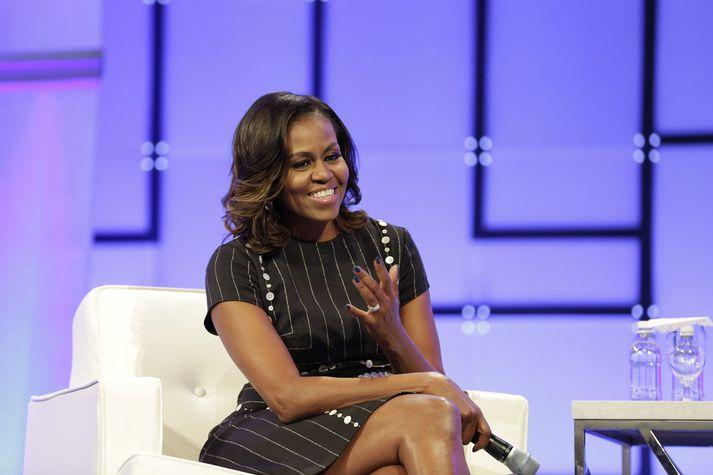 Michelle Obama, fyrrverandi forsetafrú Bandaríkjanna. Barack Obama gegndi embætti forseta á árunum 2009 til 2017.