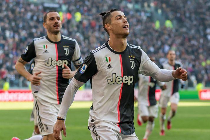 Cristiano Ronaldo er búinn að vera sjóðandi heitur í aðdraganda 35 ára afmælisdagsins síns.