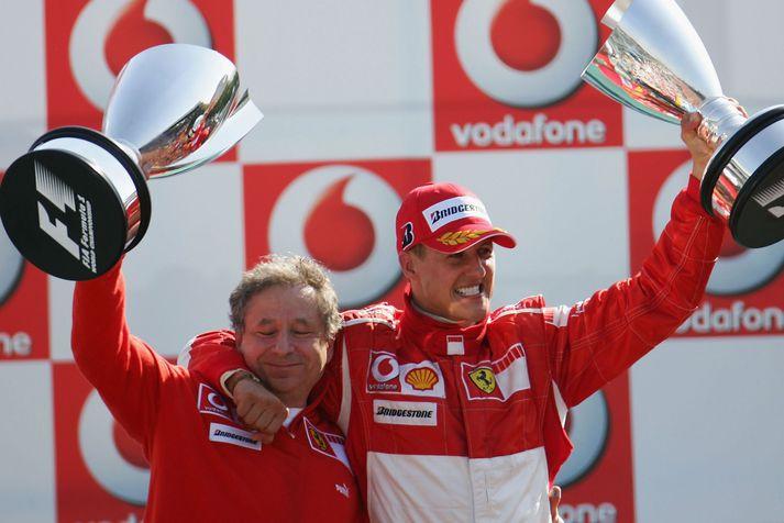 Jean Todt og Michael Schumacher voru óstöðvandi saman.