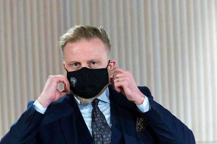 Ásgeir Jónsson seðlabankastjóri á fundi um fjármálastöðugleika í húsakynnum bankans í gær.