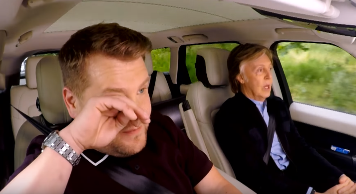 Nýjasti þáttur af Carpool Karaoke fer sennilega í sögubækurnar.