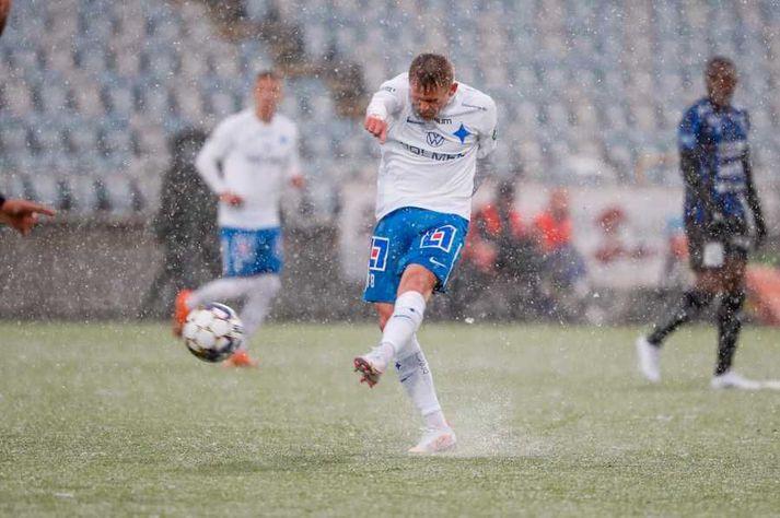 Ari Freyr lagði upp eina mark Norrköðing í 2-1 tapi í dag.