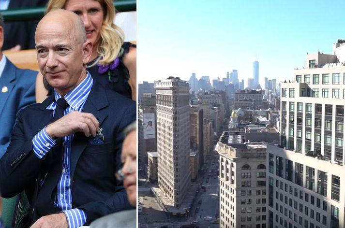 Bezos er metinn á mörg þúsund milljarða.