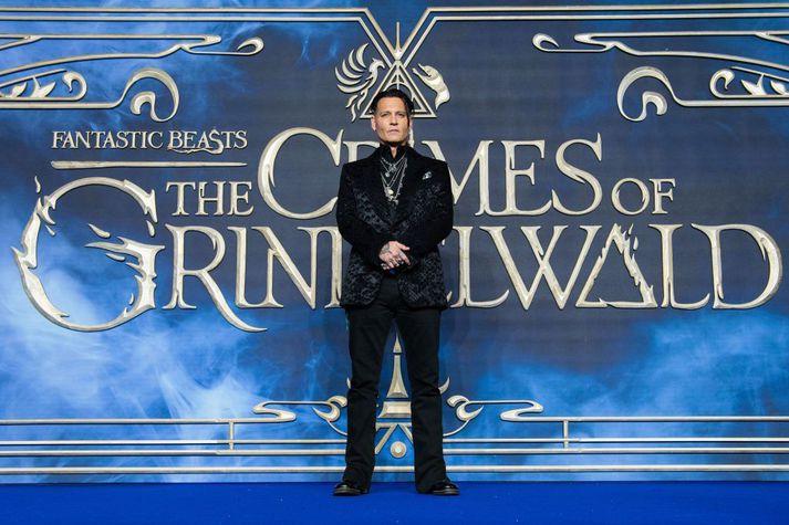 Johnny Depp hefur leikið stórt hlutverk í Fantastic Beasts kvikmyndaseríunni.