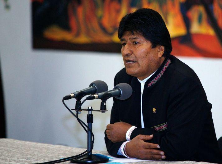 Vinstrimaðurinn Evo Morales tók við embætti forseta Bólivíu árið 2006.