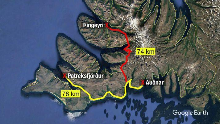 Bærinn Auðnar er í Vesturbyggð en þaðan er 78 kílómetra akstur með börnin í skóla á Patreksfirði. Styttra er til Þingeyrar, 74 kílómetrar. Ef skólinn á Birkimel væri starfandi væri 38 kílómetra akstur þangað frá Auðnum.