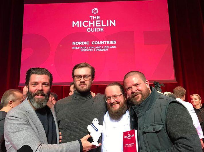 Forsvarsmenn Dill fögnuðu Michelin-stjörnunni vel árið 2017.
