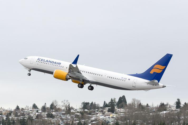 Boeing 737 Max vél Icelandair.