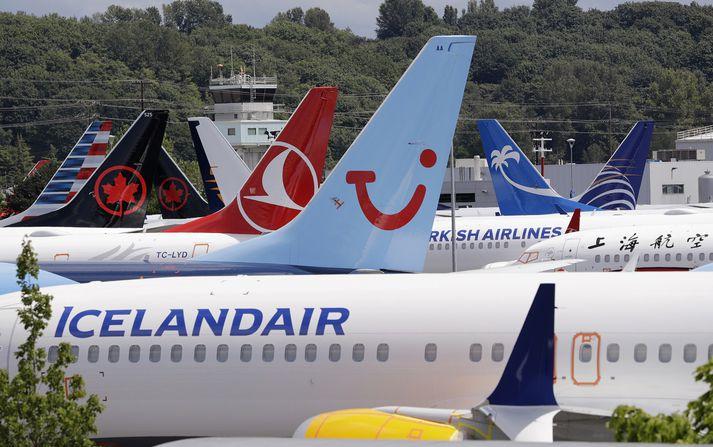 Mynd sem tekin var við starfsstöð Boeing í Seattle.