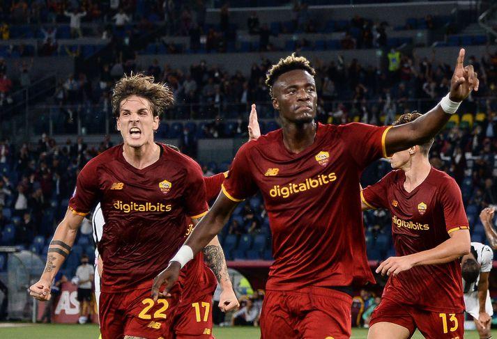 Tammy Abraham skoraði eina mark leiksins þegar Roma lagði Udinese í ítalska boltanum í kvöld.