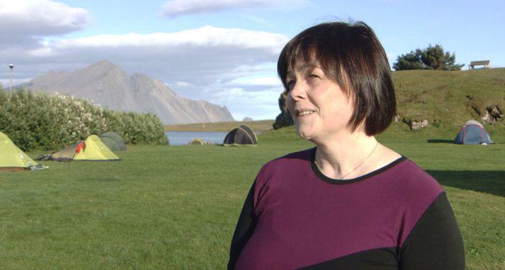 Sigrún Kapitola Guðrúnardóttir ferðamálafræðingur rekur tjaldsvæðið á Höfn.