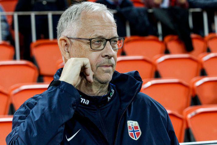 Lars Lagerbäck, þjálfari norska liðsins.
