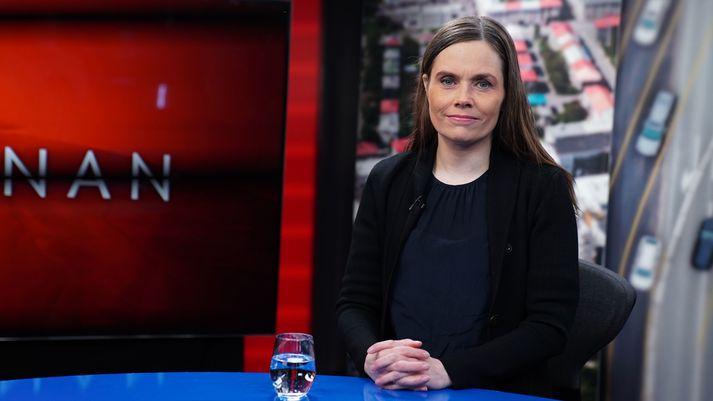 Katrín Jakobsdóttir, forsætisráðherra í Víglínunni í dag.