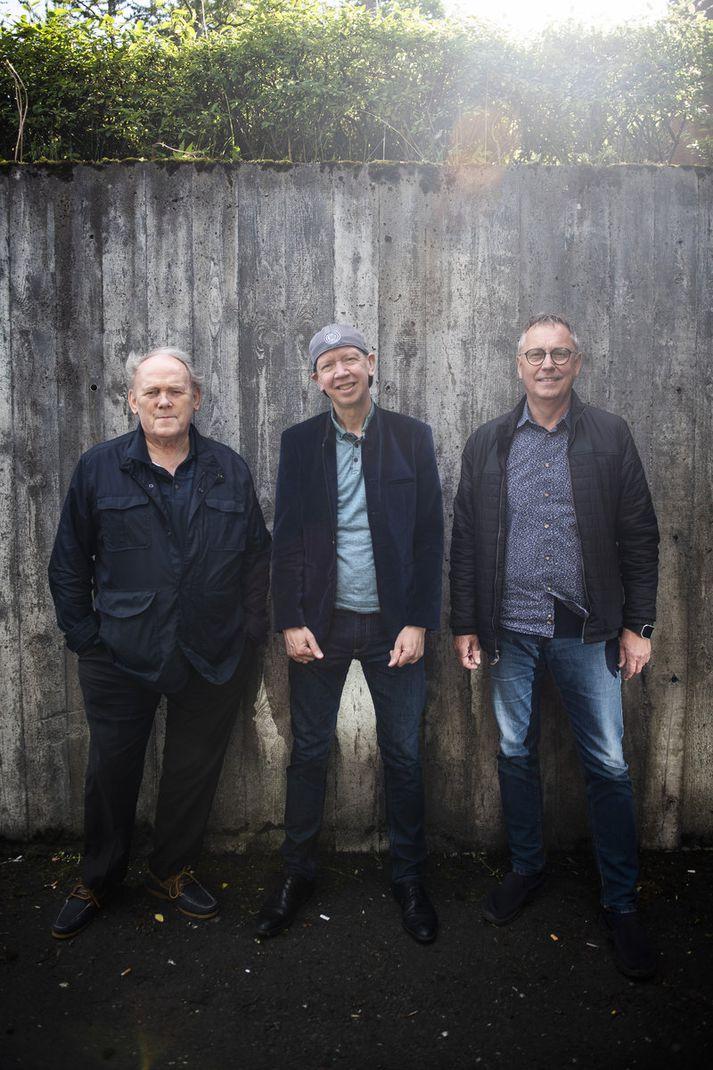 Gunnar, Björn og Jón stofnuðu tríóið Guitar Islancio fyrir 20 árum að frumkvæði Björns.