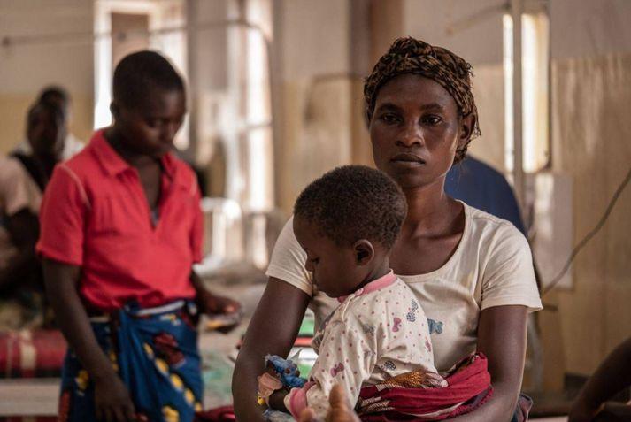 Frá barnadeild Nkhoma Mission Hospital í Nkhoma