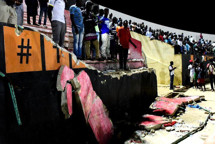 Demba Diop er í höfuðborg landsins, Dakar