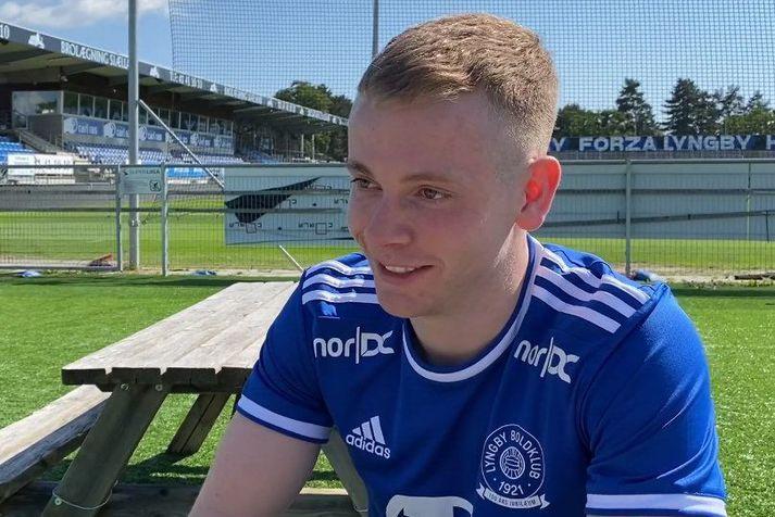 Sævar Atli Magnússon í sínu fyrsta viðtali sem leikmaður Lyngby.