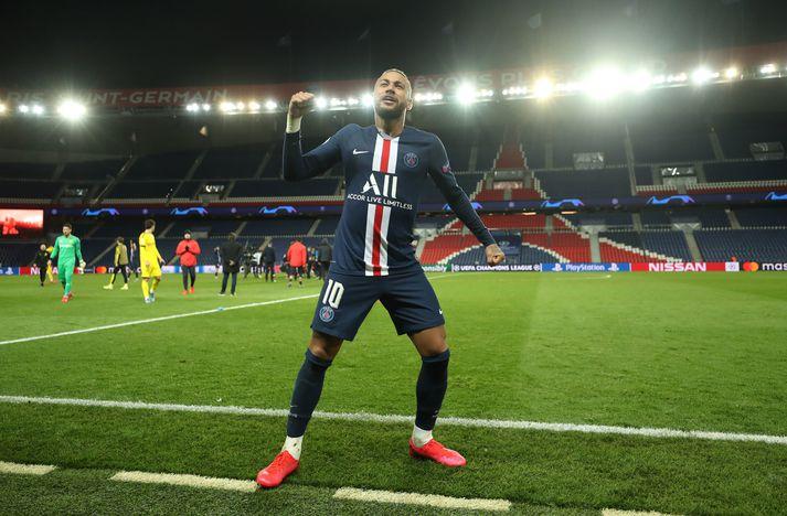 Neymar hefur ekki getað spilað fótbolta frá því að PSG sló Dortmund út úr Meistaradeild Evrópu 11. mars.