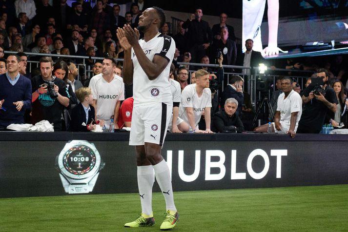 Heimsmethafinn Usain Bolt stefnir á að spila fyrir Manchester United.
