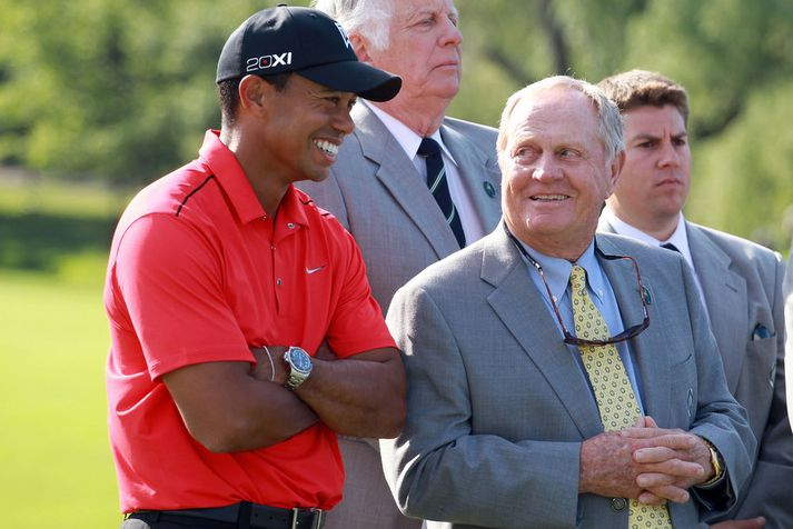 Tiger Woods og Jack Nicklaus.