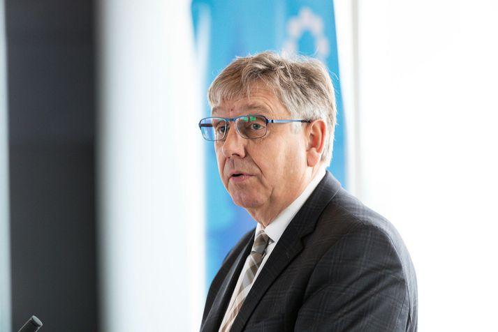 Eyjólfur Árni Rafnsson á aðalfundi SA árið 2019.