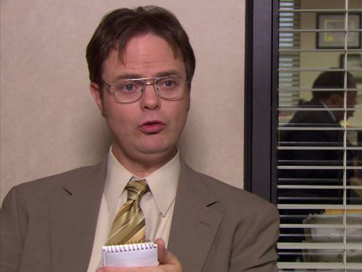 Rainn Wilson sem Dwight Schrute í The Office.
