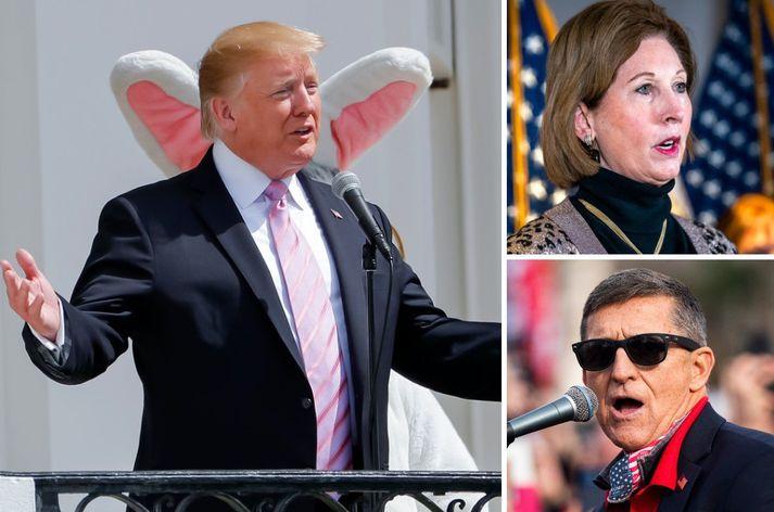 Donald Trump, Sidney Powell og Michael Flynn.