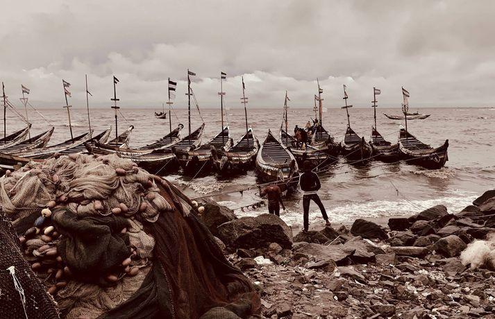 Smábátaútgerð í Síerra Leone.