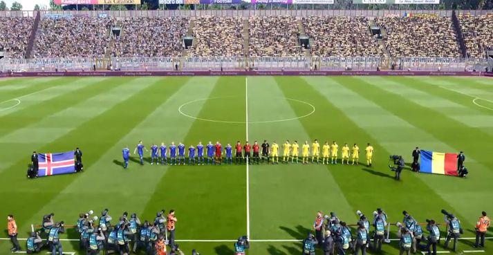 Ísland og Rúmenía mætast í vináttulandsleik í FIFA 20.