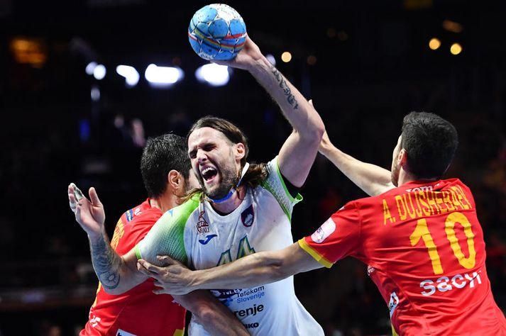 Slóveninn Dean Bombac lét forráðamenn EHF heyra það eftir leikinn gegn Spáni.