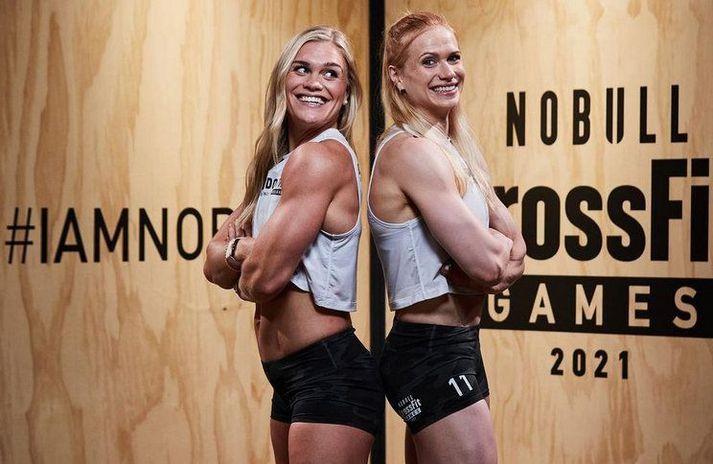 Katrín Tanja Davíðsdóttir og Anníe Mist Þórisdóttir hafa báðar orðið heimsmeistarar í CrossFit og eru með á heimsleikunum í ár.