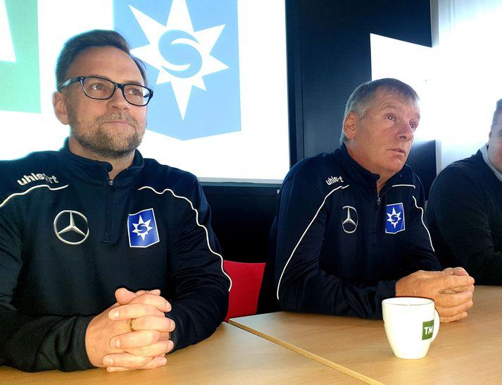 Rúnar Páll og Ólafur, þjálfarar Stjörnunnar.