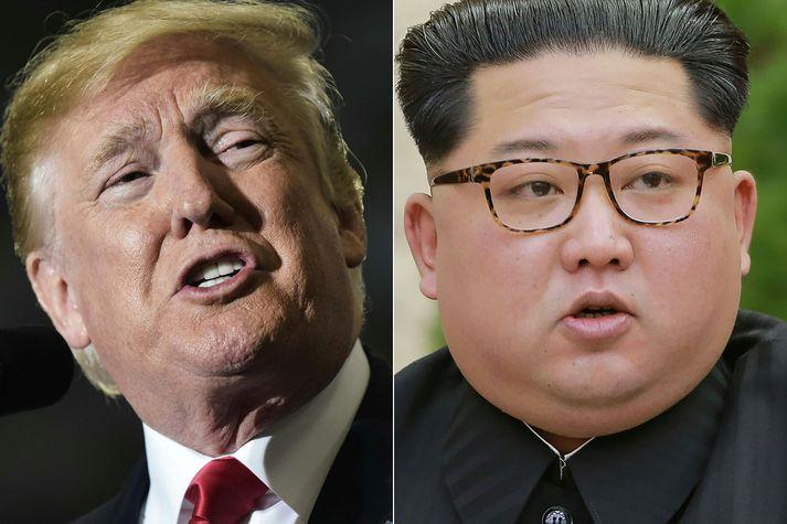 Donald Trump og Kim Jong-un.