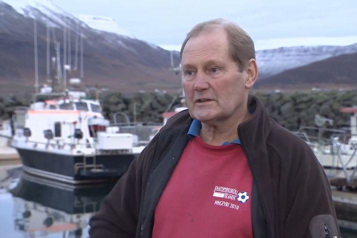 Sigmundur Fríðar Þórðarson, formaður íbúasamtaka Þingeyrar.