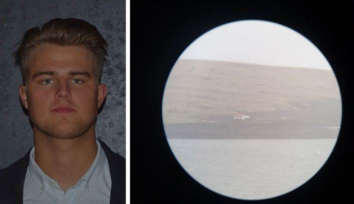 Bjartur Snær Sigurðsson telur að hann hafi verið um korter að róa að manninum.