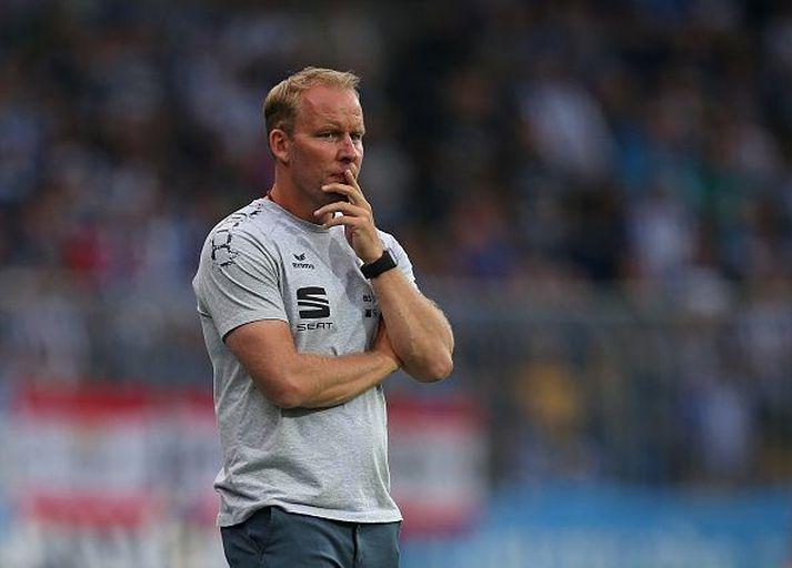 Henrik Pedersen er hann stýrði Eintracht Braunschweig.